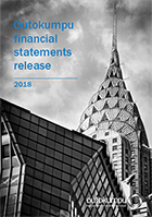 Outokumpu Financial Statements release 2018 cover image